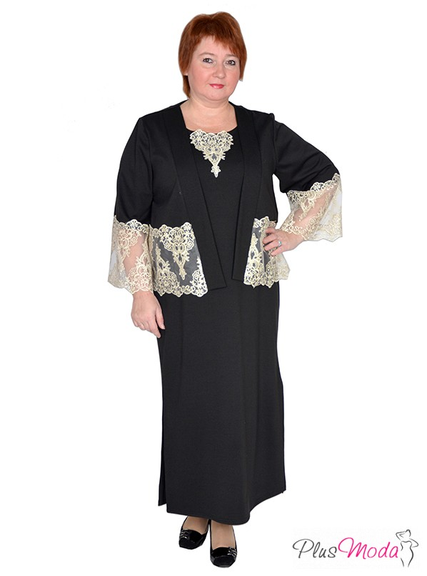 07596014682 Женское платье больших размеров модель №385 Плюс Мода в интернет магазине  за 2 959 руб.