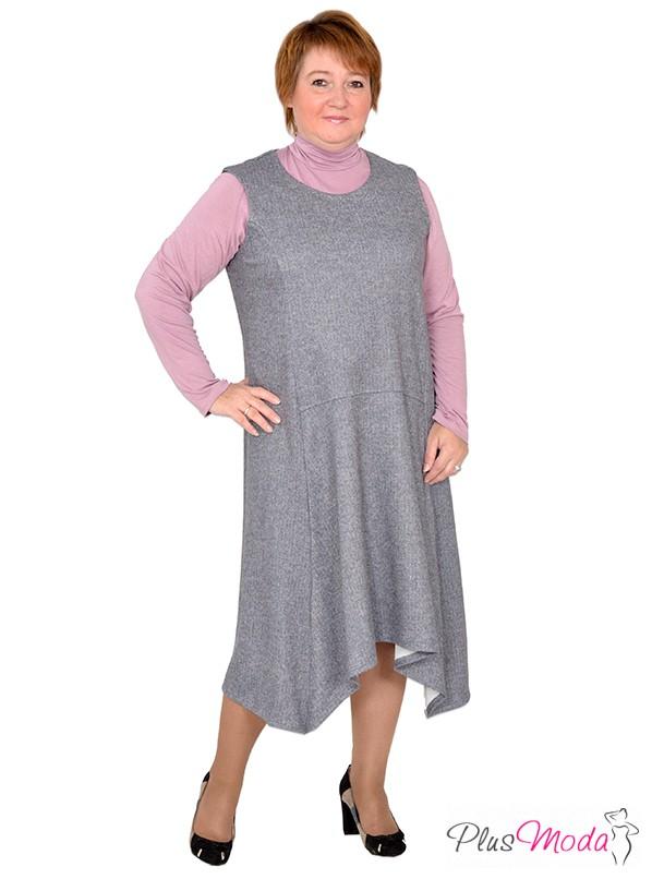 9e739365ede Платье-сарафан больших размеров модель №347 Плюс Мода в интернет магазине  за 2 479 руб.