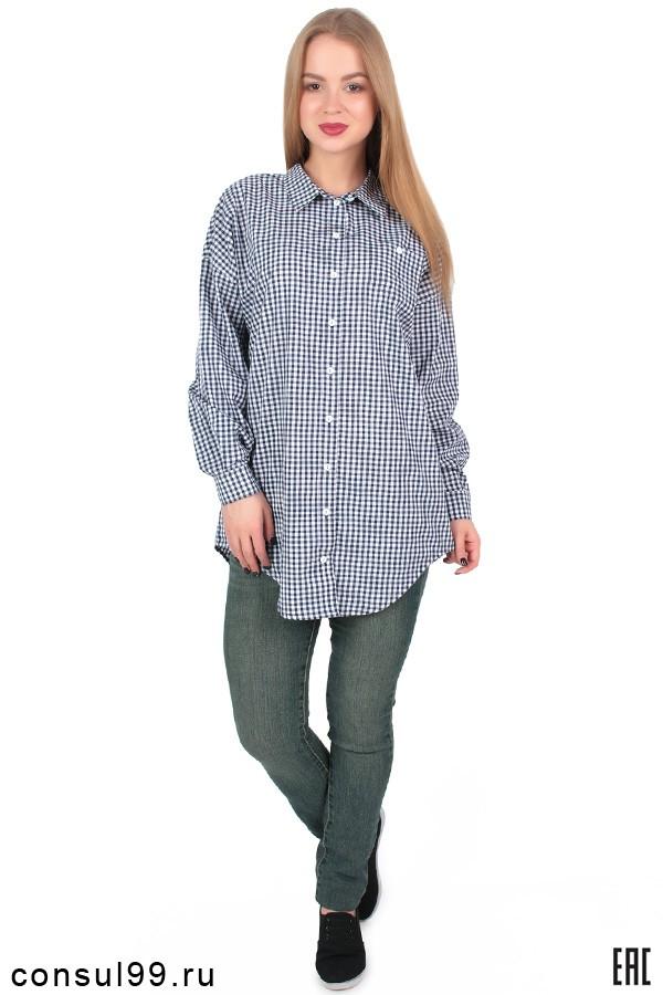 ff278d1f137 Удлиненная рубашка женская в клетку с длинным рукавом в интернет магазине  за 1 300 руб.