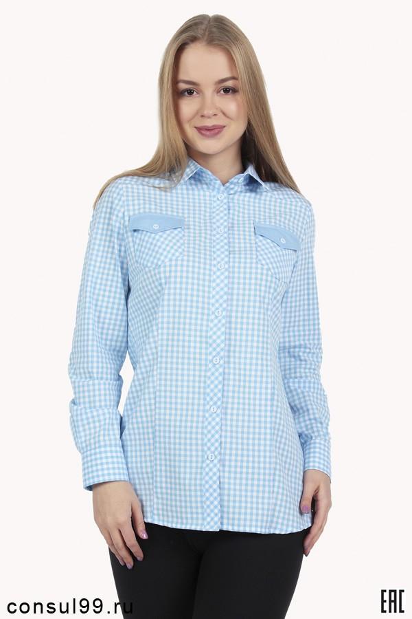 893fb0ddf03 Рубашка в мелкую клетку женская длинный рукав модель 10 в интернет магазине  за 780 руб.