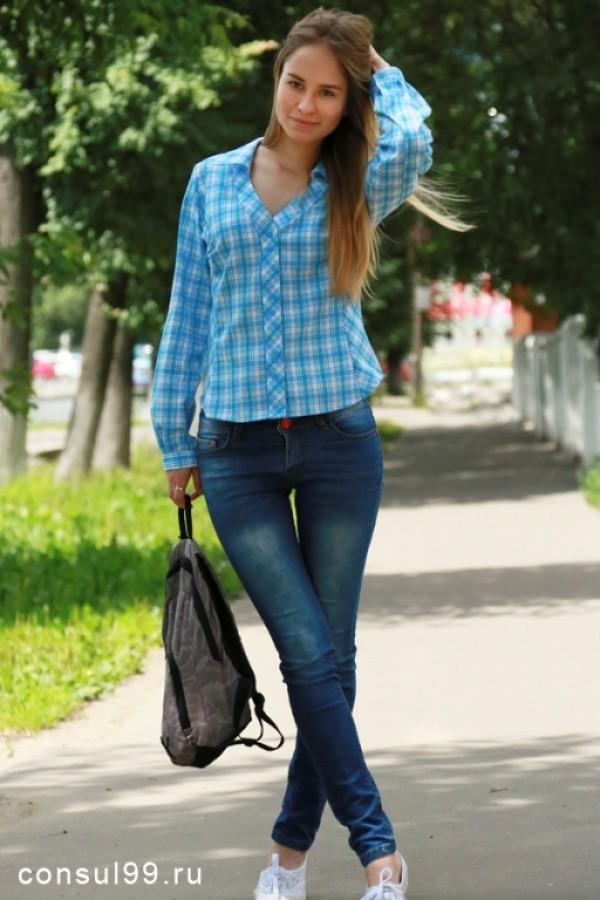 6c0ccf2c3a2 Рубашка женская в клетку из шотландки длинные рукава купить в России ...